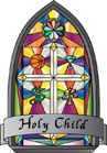 "full color version of ""Holy Child"" logo"